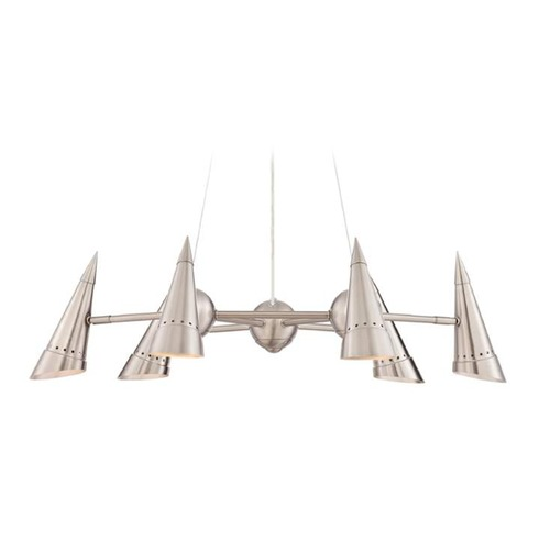 Lite Source Lighting Lite Source Talbot Polished Steel Chandelier LS-18802