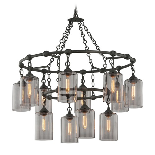 Troy Lighting Troy Lighting Gotham Aged Silver Pendant Light with Cylindrical Shade F4425