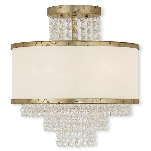 Livex Lighting Livex Lighting Prescott Hand Applied Winter Gold Semi-Flushmount Light 50794-28