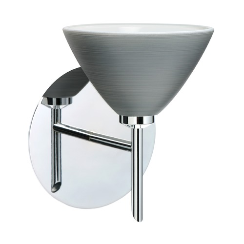 Besa Lighting Besa Lighting Domi Chrome LED Sconce 1SW-1743TN-LED-CR