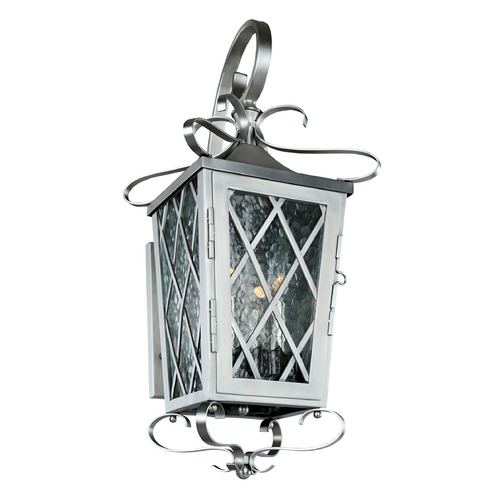 Kalco Lighting Kalco Trellis Brushed Stainless Steel Outdoor Wall Light 402221SL