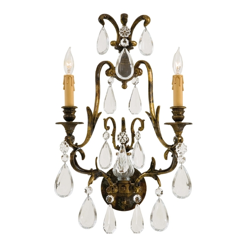 Metropolitan Lighting Crystal Sconce Wall Light in Oxidized Brass Finish N952115