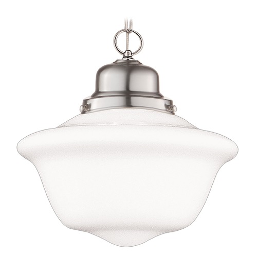 Hudson Valley Lighting Pendant Light with White Glass in Satin Nickel Finish 1612-SN