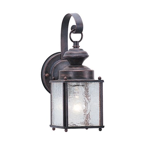 Sea Gull Lighting Outdoor Wall Light with Clear Glass in Textured Rust Patina Finish 8880-08