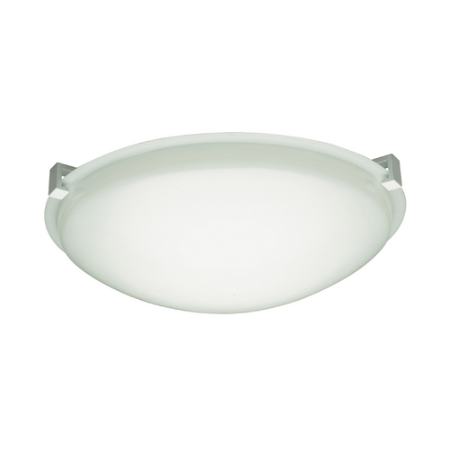 PLC Lighting Modern Flushmount Light with White Glass in White Finish 6000 WH