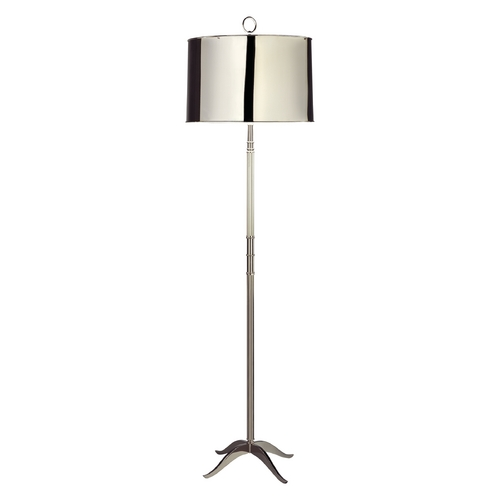 Robert Abbey Lighting Mid-Century Modern Table Lamp Polished Nickel Porter by Robert Abbey S1911