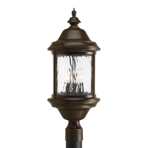 Progress Lighting Post Light with Clear Glass in Antique Bronze Finish P5450-20
