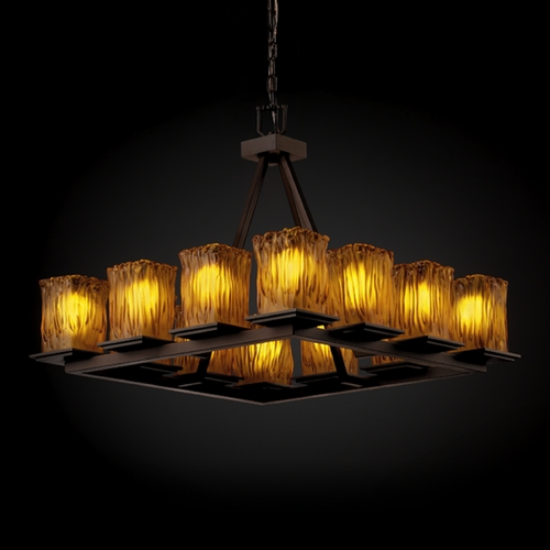Justice Design Group Justice Design Group Veneto Luce Collection Chandelier GLA-8668-26-AMBR-DBRZ