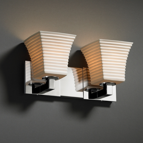 Justice Design Group Justice Design Group Limoges Collection Bathroom Light POR-8922-40-SAWT-CROM