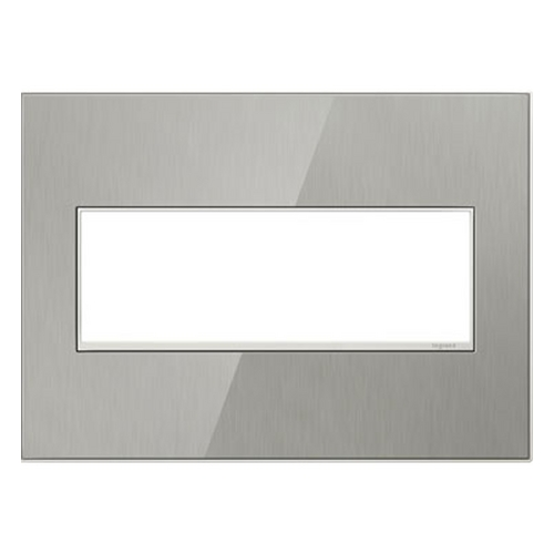Legrand Adorne Legrand Adorne Brushed Stainless 3-Gang Switch Plate AWM3GMS4