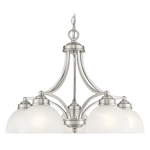 Livex Lighting Livex Lighting Somerset Brushed Nickel Chandelier 4225-91