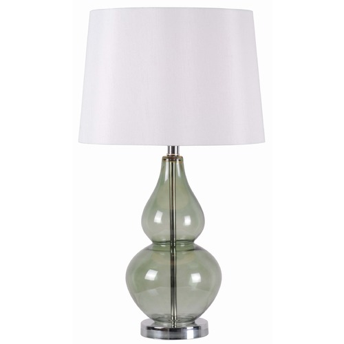 Kenroy Home Lighting Kenroy Home Lighting Mccauley Spruce, Clear Table Lamp with Drum Shade 32326SPR