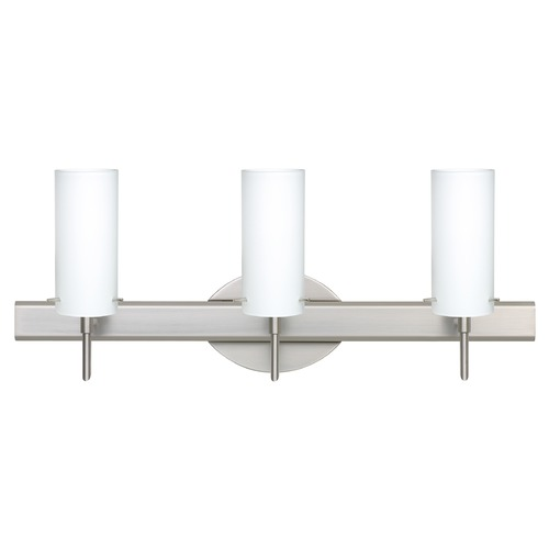 Besa Lighting Besa Lighting Copa Satin Nickel Bathroom Light 3SW-440307-SN
