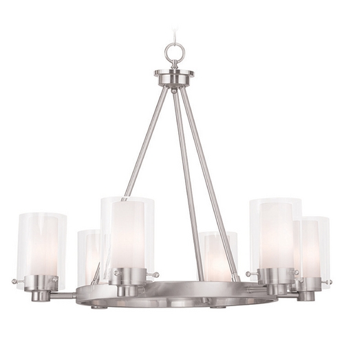Livex Lighting Livex Lighting Manhattan Brushed Nickel Chandelier 50676-91
