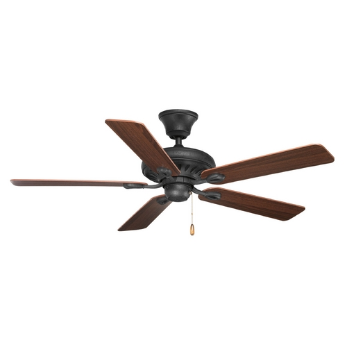 Progress Lighting Progress Lighting Signature Forged Black Ceiling Fan Without Light P2521-80