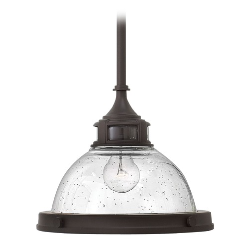 Hinkley Lighting Hinkley Lighting Amelia Buckeye Bronze Mini-Pendant Light with Bowl / Dome Shade 3123KZ