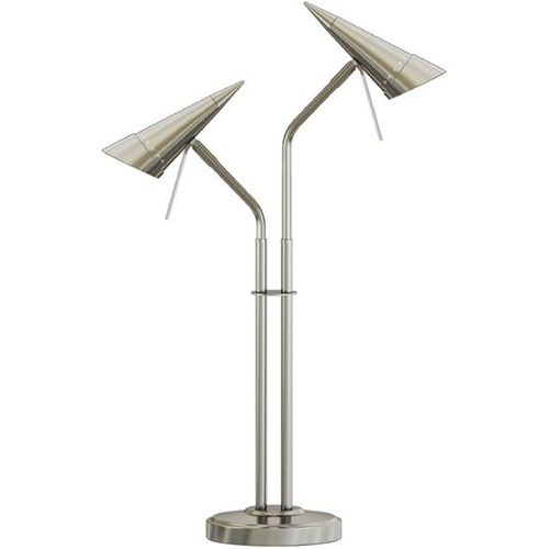 Lite Source Lighting Lite Source Talbot Polished Steel Table Lamp with Conical Shade LS-22802