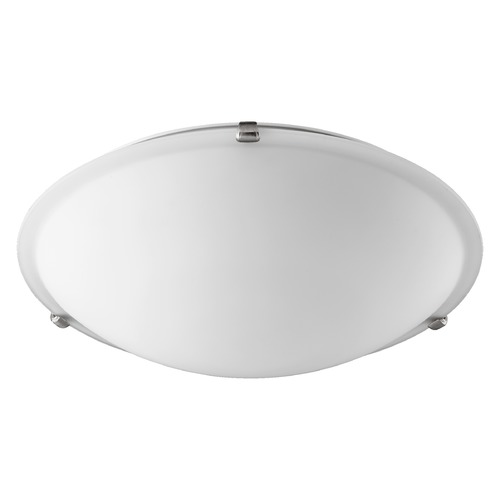 Quorum Lighting Quorum Lighting Satin Nickel Flushmount Light 3000-20165