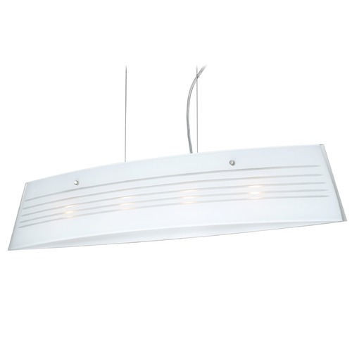 Besa Lighting Besa Lighting Silhouette Satin Nickel LED Island Light with Rectangle Shade LS4-445510-LED-SN