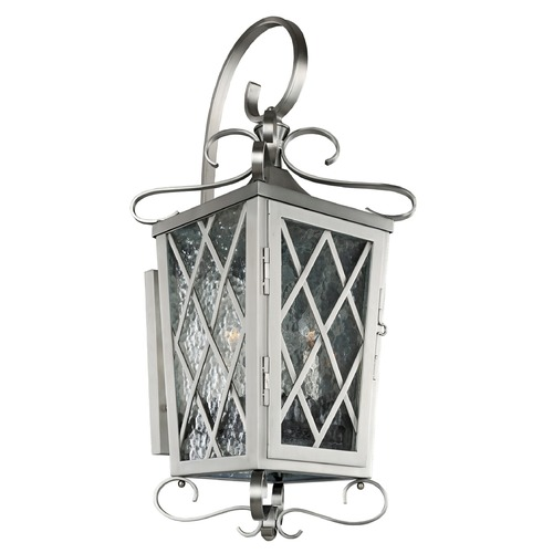 Kalco Lighting Kalco Trellis Brushed Stainless Steel Outdoor Wall Light 402222SL