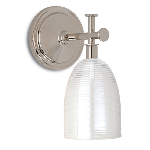 Currey and Company Lighting Currey and Company Sylvian Polished Nickel Sconce 5213