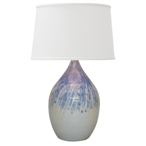 House of Troy Lighting House Of Troy Scatchard Decorated Gray Table Lamp with Empire Shade GS302-DG