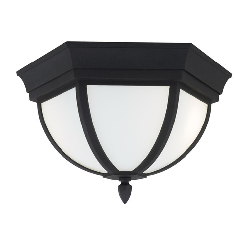 Sea Gull Lighting Sea Gull Lighting Wynfield Black Close To Ceiling Light 79136-12