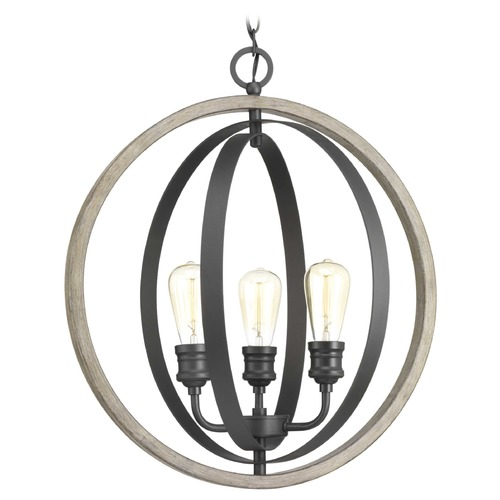Progress Lighting Progress Lighting Conestee Graphite 3-Light Pendant P500093-143