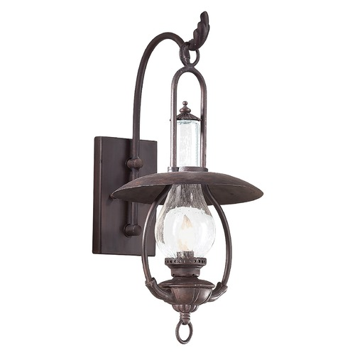 Troy Lighting Outdoor Wall Light with Clear Glass in Old Bronze Finish BCD9010OBZ