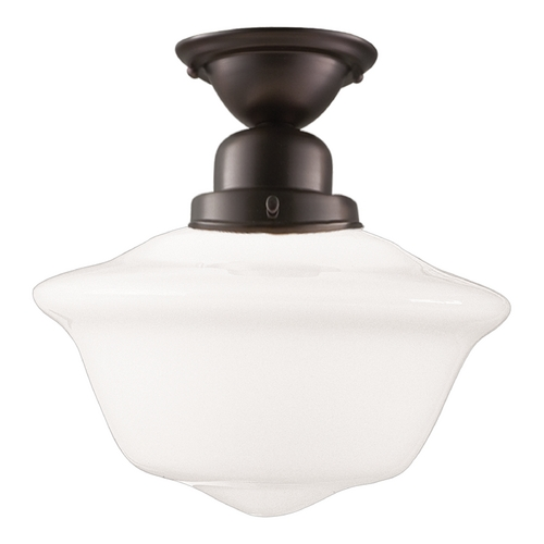 Hudson Valley Lighting Semi-Flushmount Light with White Glass in Old Bronze Finish 1615F-OB