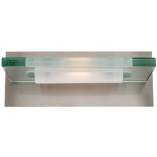 Access Lighting Modern Bathroom Light with Clear Glass in Brushed Steel Finish 62091-BS/12C