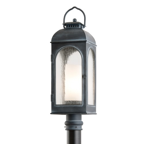 Troy Lighting Post Light with Clear Glass in Antique Iron Finish P3285
