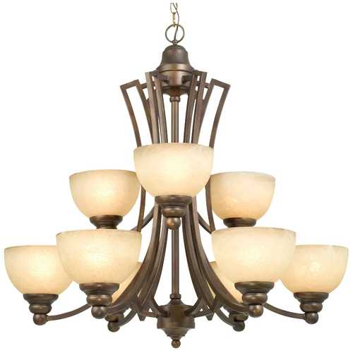 Dolan Designs Lighting Nine-Light Chandelier 2302-90