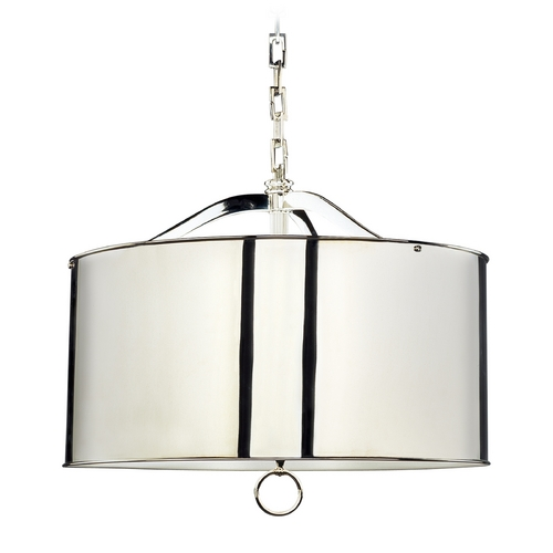 Robert Abbey Lighting Mid-Century Modern Pendant Light Polished Nickel Porter by Robert Abbey S1912