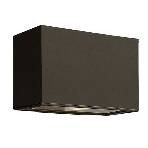 Hinkley Lighting Modern Outdoor Wall Light with White Glass in Bronze Finish 1645BZ-GU24