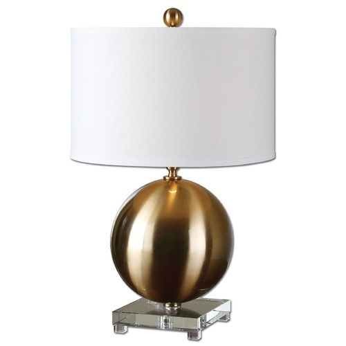 Uttermost Lighting Uttermost Laton Brass Sphere Table Lamp 27299-1