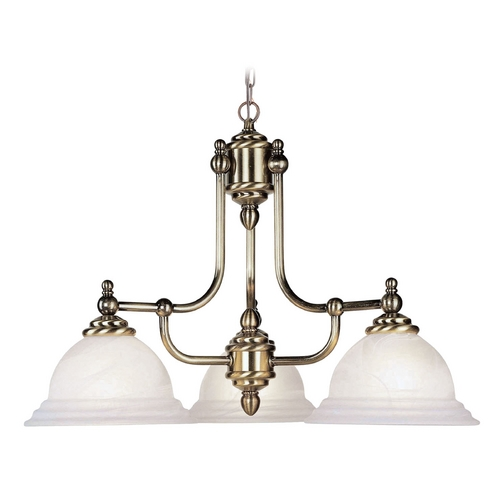 Livex Lighting Livex Lighting North Port Antique Brass Chandelier 4253-01