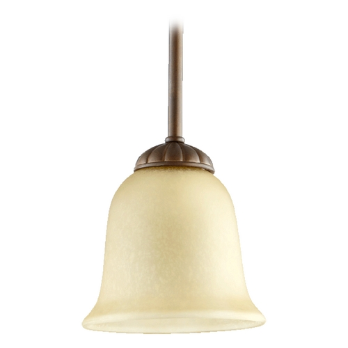 Quorum Lighting Quorum Lighting Tribeca Ii Oiled Bronze Mini-Pendant Light with Bell Shade 3078-186