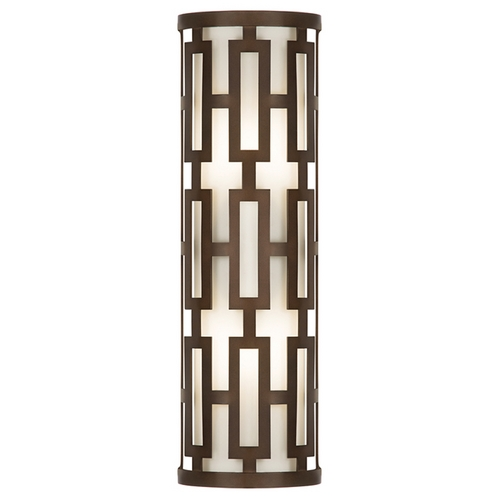 Fine Art Lamps Fine Art Lamps River Oaks Dark Bronze Outdoor Wall Light 840081ST