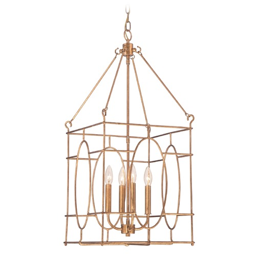 Quoizel Lighting Quoizel Vintage Gold Pendant Light QF1829VG