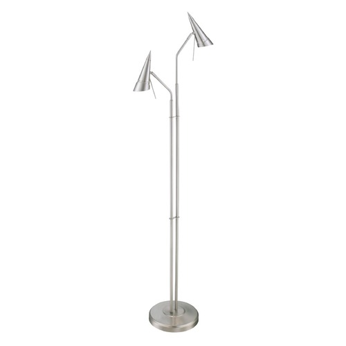 Lite Source Lighting Lite Source Talbot Polished Steel Floor Lamp with Conical Shade LS-82802