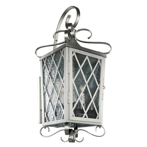 Kalco Lighting Kalco Trellis Brushed Stainless Steel Outdoor Wall Light 402223SL