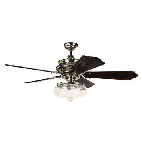 Craftmade Lighting Craftmade Lighting Townsend Polished Nickel Ceiling Fan with Light K11262