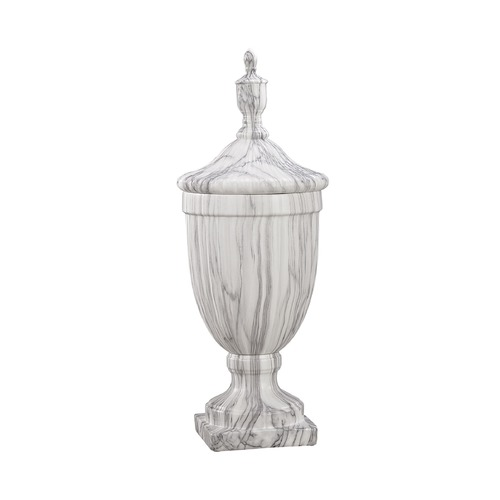 Sterling Lighting Sterling Neuchatel Faux Marble Ceramic Urn - Small 9167-052