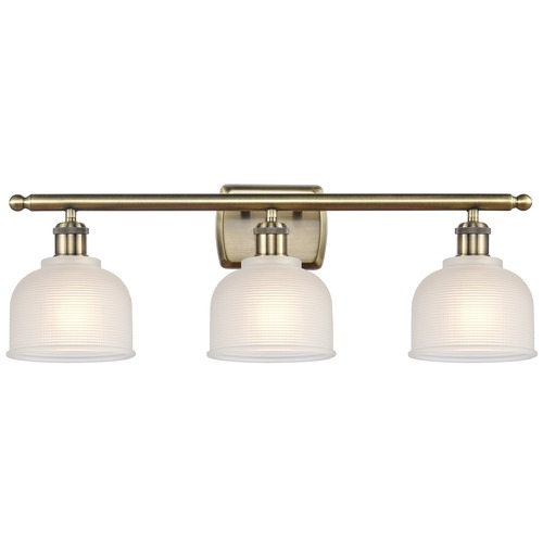 Innovations Lighting Innovations Lighting Dayton Antique Brass LED Bathroom Light 516-3W-AB-G411-LED