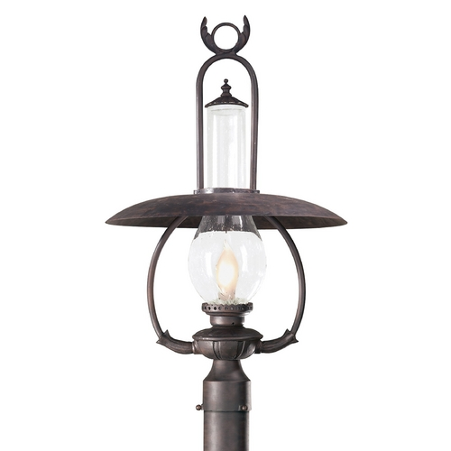 Troy Lighting Post Light with Clear Glass in Old Bronze Finish PCD9012OBZ
