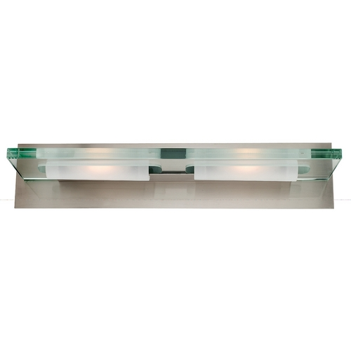 Access Lighting Modern Bathroom Light with Clear Glass in Brushed Steel Finish 62092-BS/12C