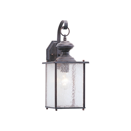 Sea Gull Lighting Outdoor Wall Light with Clear Glass in Textured Rust Patina Finish 8882-08