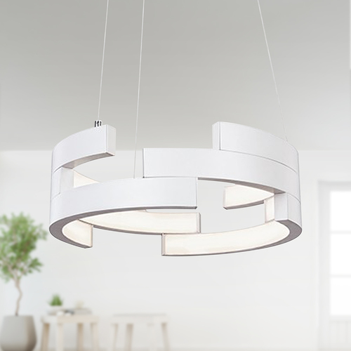 Kuzco Lighting White LED Pendant Light by Kuzco Lighting PD12716-WH