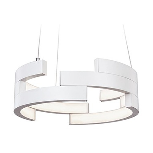 Kuzco Lighting Kuzco Lighting White LED Pendant Light PD12716-WH